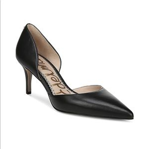 Sam Edelman Jaina black leather pump heels